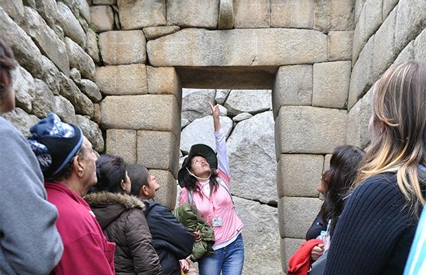 Guia explica o modelo de construção dos incas.
