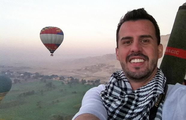 Um inesquecível passeio de balão no Egito