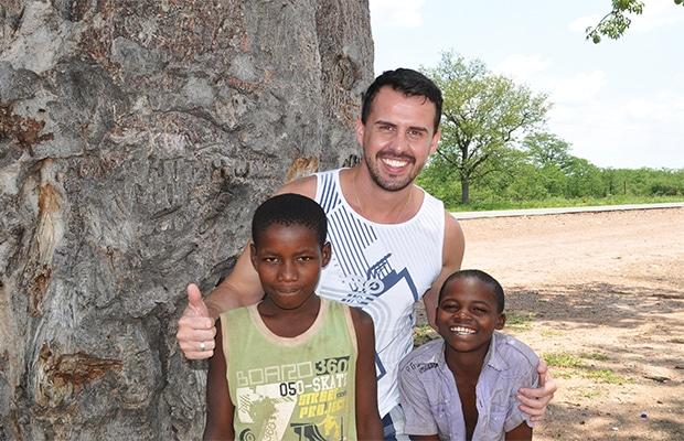 Cruzando a fronteira com Botsuana