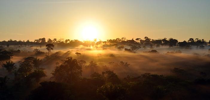 Voo de balão na Amazônia acriana