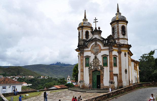 A bela paisagem de Ouro Preto.