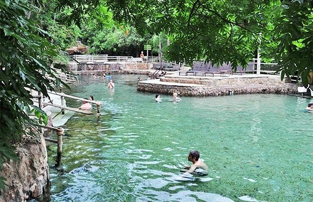mergulho no Hot Park