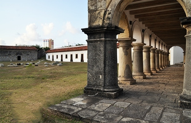 O forte Santa Catarina.