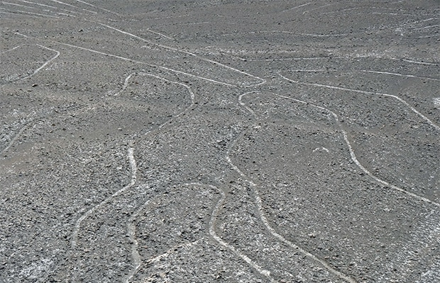 Detalhe das grandiosas Linhas de Nazca.
