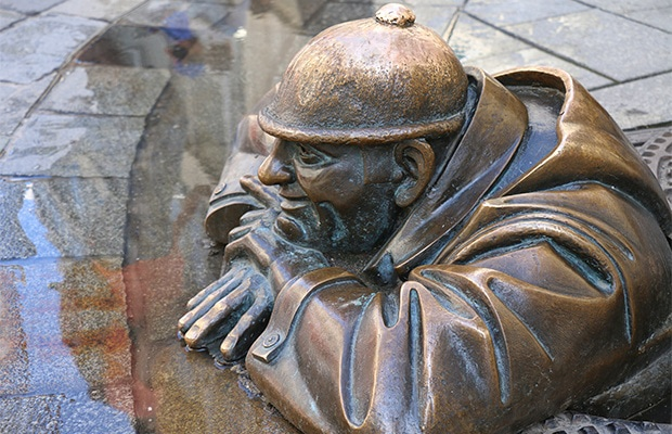 As divertidas estátuas de Bratislava
