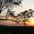 O incrível pôr do sol na Pedra Furada