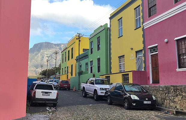 O histórico bairro de Bo-Kaap, em Cape Town
