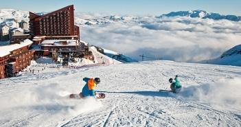 A neve chegou mais cedo no Chile