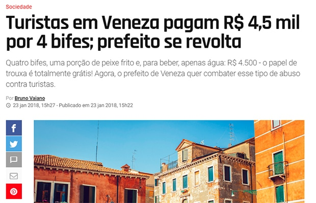 Por que é tão caro viajar para Veneza?