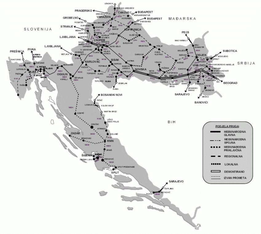 Como chegar à Croácia: ferrovias